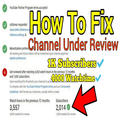YouTube channel monetization still under review ? How to Fix it?