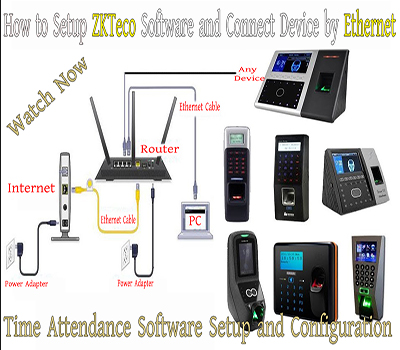 How to Setup & Configure ZKTeco Software and Connect Device by Ethernet